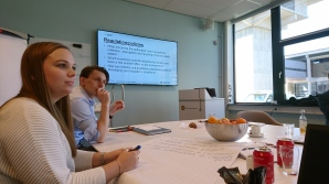 Haley Knudson from NTNU and Thomas Long from the University of Wageningen concentrated during the workshop.